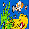 Fishes and sea sponges coloring gioco