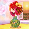Decorazione del vaso di fiore gioco