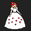 Ragazza di fiore sposa da colorare gioco