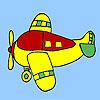 Quattro aerei posti da colorare gioco