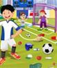 Campo di calcio di pulizia gioco