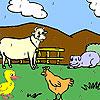 Animali da allevamento divertenti da colorare gioco