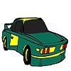 Colorazione verde auto veloce gioco