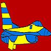 Colorazione di grande aeroplano blu gioco