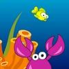 Felice piccolo pesce gioco