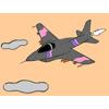 Jet Fighter colorazione gioco