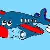 Bambini colorare aereo gioco