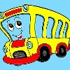 Bambini colorare Bus gioco