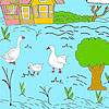 Little farm e anatre da colorare gioco
