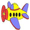 Poco colorazione dell'aeroplano gioco