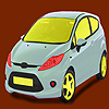 Little bright green car coloring gioco
