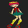 Piccola nuova principessa da colorare gioco