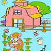 Ragazzino in colorazione giardino gioco