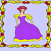 Lonely princess in the palace coloring gioco