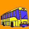 Lunga strada autobus colorazione gioco