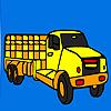 Colorazione di villaggio lungo camion gioco