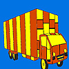 Colorazione di camion lunga strada gioco