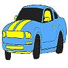Colorazione blu auto magnifica gioco