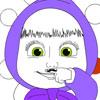 Masha baffi da colorare gioco