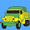 Camion verde militari da colorare gioco