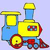 Mini treno verde da colorare gioco