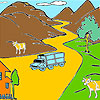Mountain and cows coloring gioco