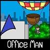 Uomo dell'ufficio gioco