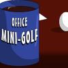 Ufficio mini-golf gioco