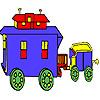 Colorazione di trasporto Villaggio vecchia gioco
