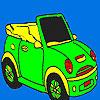 Aprire auto sportiva da colorare gioco