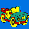 Open top jeep coloring gioco