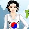 Ragazza Peppy patriottico Corea del sud gioco