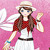 Pink garden girl dress up gioco