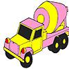 Camion concreto colorazione rosa gioco