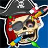 Scheletro del pirata al dentista gioco