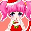 Bella ragazza bella Natale gioco