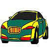 Colorazione verde pubblico auto gioco