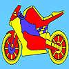 Colorazione di moto corsa rossa gioco