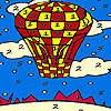 Colorazione di palloncino volante rosso gioco