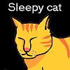 Gatto sonnolento gioco