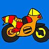Colorazione di piccola moto colorato gioco