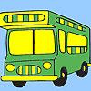 Autobus colorazione vacanza gioco
